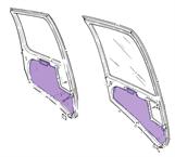Picture of R44Door panel inserts- full set