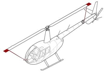 Picture of R44 Blade tie downs