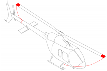 Picture of Bell 505 Blade tie downs