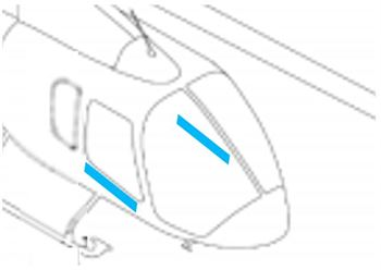 Picture of Bell 505 Leather Door Trim Kit