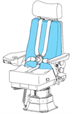 Picture of Cover, Backrest, First Officer Seat