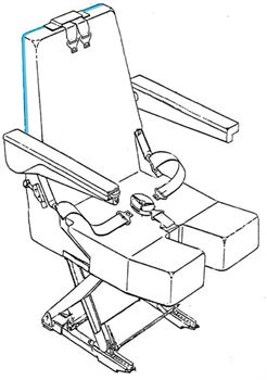 Picture of 394 Series, Backrest Rear Cover, Crew Seat
