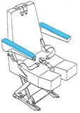 Picture of 394 Series, Armrest Cover, Crew Seat