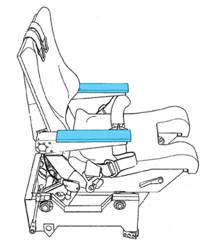 Picture of Armrest Cover, Crew Seat