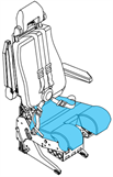 Picture of Cover, Seat Bottom, Ipeco seat