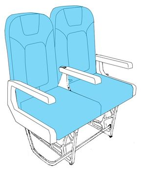 Picture of Fokker 100 Pax seat -Design PS-80