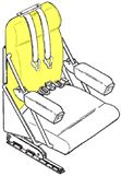 Picture of Cushion, Crew Seat Bottom- RH