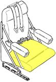 Picture of Cushion,Crew Seat Bottom- RH