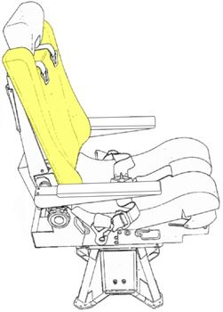 Picture of Cushion, Seat Backrest, Captain/F/O