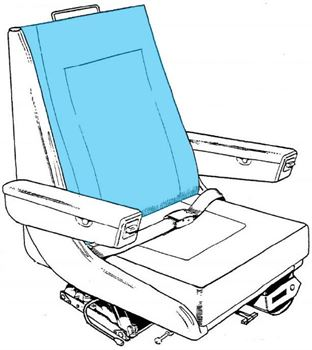 Picture of Backrest Cover, Crew Seat