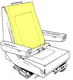 Picture of Backrest Cushion, Crew Seat
