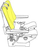 Picture of Cushion, Backrest, Crew Seat
