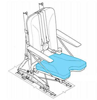 Picture of Cover, Seat Bottom, IAI model seat