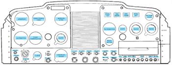 Picture of C152 Mandatory Interior Placard Set