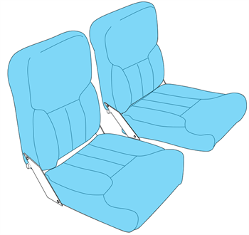 Picture of C150/152, A152 Seat Upholstery (1978-85)