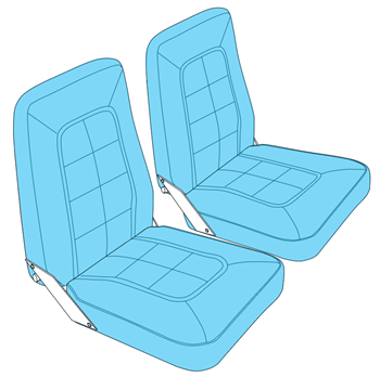 Picture of A152 Aerobat Seat Upholstery (1978-85)