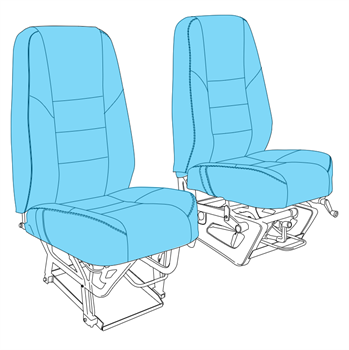 Picture of C185 Front Seats Upholstery (1975-86)