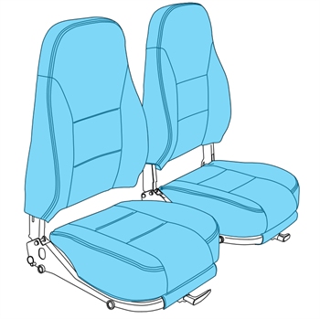 Picture of PA-38 Pilot/Co-Pilot Seat Upholstery