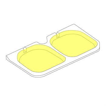 Picture of Rear Fold-down Seat Base Foam Inserts