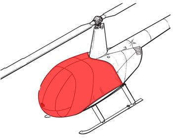 Picture of R44Exterior cover - Light Weight